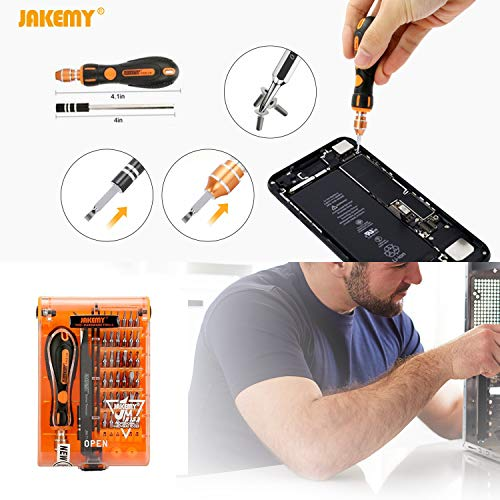 Jakemy 43 in 1 Screwdriver Set Precision Repair Tool Kit with 36 Magnetic Driver