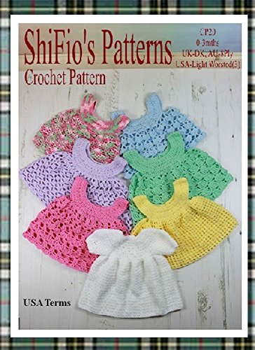 Crochet Pattern Cp20 1 Baby Dress And 6 Pinafores Usa