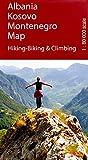 Albania, Montenegro, Kosovo 1:80,000 Trekking / cycling map HUBER