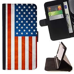 Momo Phone Case / Flip Funda de Cuero Case Cover - Nacional bandera de la nación País EE.UU.; - Sony Xperia Z3 Compact