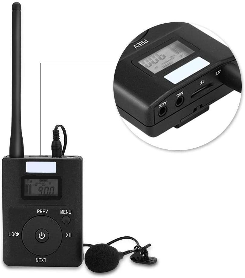 Portable 3.5MM Low-Power Wireless FM Transmitter Audio Adapter Stereo Radio Broadcast Adapter Richer-R FM Transmitter