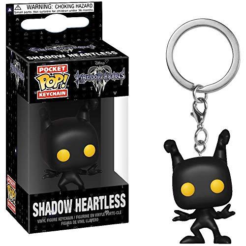 Funko Shadow Heartless: Kingdom Hearts x Pocket POP! Mini-Figural Keychain + 1 Classic Disney Trading Card Bundle [34066]