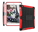 Product review for Protective Heavy Duty Tough 2 In 1 TPU+PC Design Holder Case Cover For Apple ipad 2nd , 3rd , 4th Generation Model : A1395, A1396, A1397,A1416, A1430, A1403,A1458 ,A1460 or A1459 ( Black with Red )