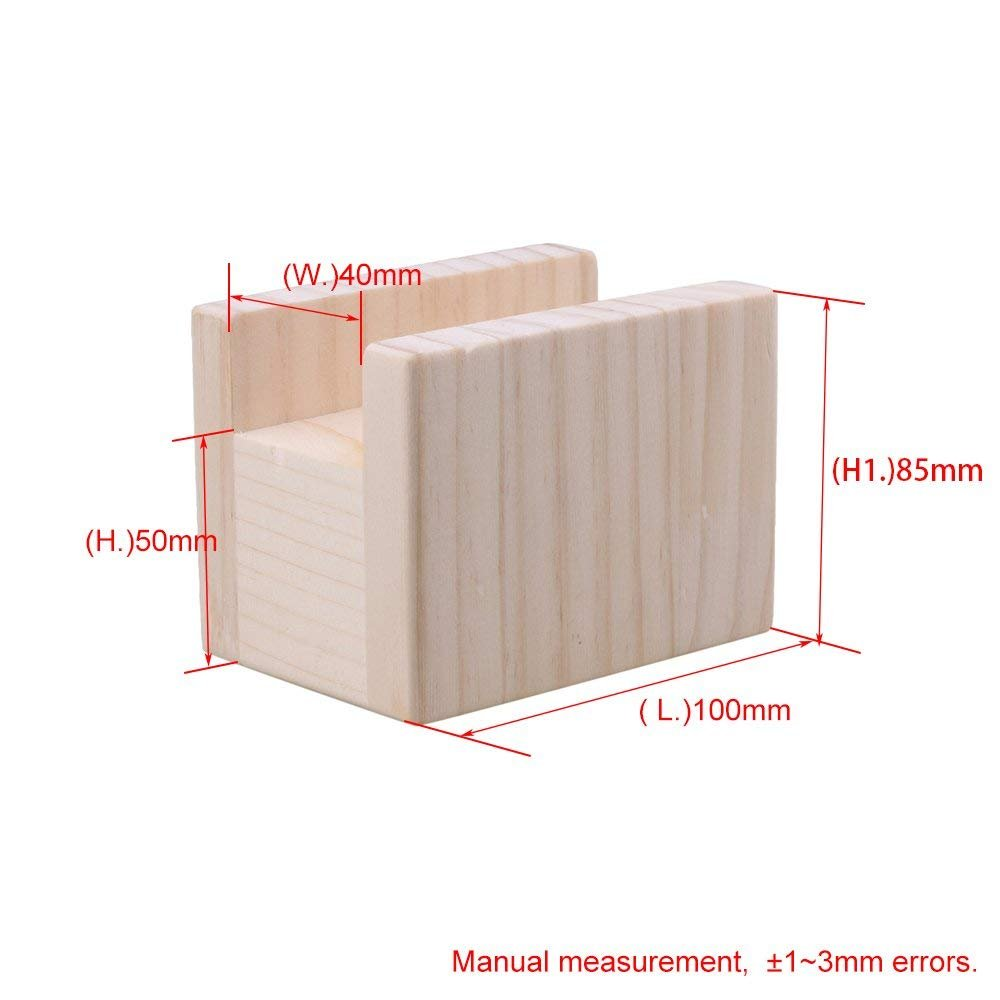 Wood Table Desk Bed Riser Lift Furniture Lifter Storage with 4cm Groove,Feet Up to 5cm Lift by Doublelife Wood Bed Lifters (Image #6)