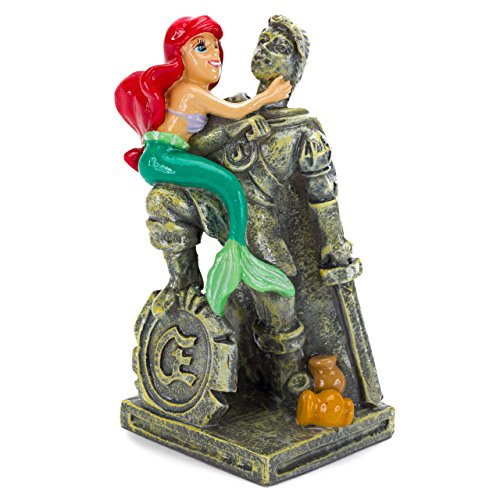 Penn Plax The Little Mermaid Ariel & Eric Statue Aquarium Ornament
