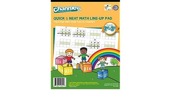 Amazon.com : Channie's Triple digit Math LineUp Pad Math workbook ...