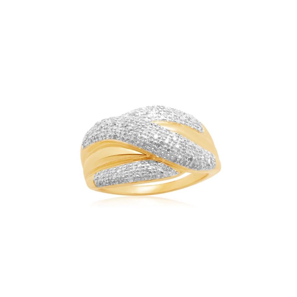 10k Yellow Gold Bridge Diamond Ring (1/2 cttw, I J Color
