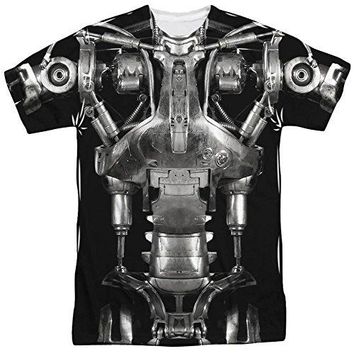 [Terminator - Endoskeleton Costume T-Shirt Size XXXL] (Cameron Terminator Costume)