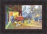 Common Ground by Dave Barnhouse 17x23 Farmall Tractor John Deere Pedal Tractor Farm Barn Nostalgic Americana Framed Picture