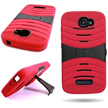 CoverON® for Alcatel One Touch Fierce 2 / Pop Icon Case - [Titan Armor Series] Hybrid Hard and Soft Shockproof Dual Layer Protective Phone Cover with Kickstand - ( Red / Black )