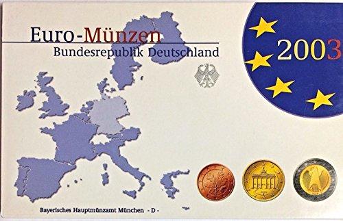 DE 2003 Germany 2003 D Euro Official Coin Set München Min Good