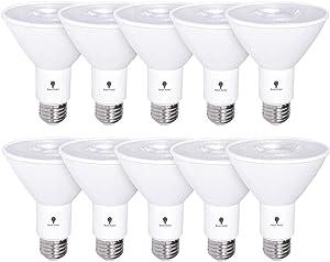 10 Pack PAR30 LED Flood Light Bulb 12W 75 Watt Equivalent 800 Lumens Waterproof E26 3000K Warm White Super Bright LED Flood Light Bulbs for Security, Garage Led Spotlight Bulb Led Recessed Light Bulbs