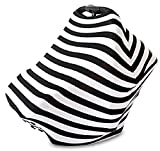 Stretchy Baby Infant Car Seat Canopy, Nursing, Stroller Cover 3 in 1 Multi-Use Gift By BG Mini (Black)
