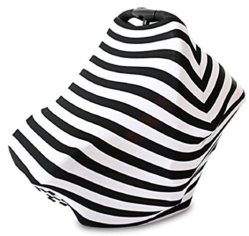 Stretchy Baby Infant Breathable Car Seat Canopy and Nursing