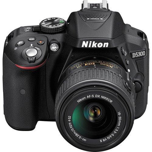 Nikon D5300 with 18 55 mm VR II Lens  Black