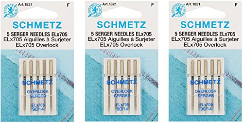 Great Features Of ELX705 Serger Needles -Size 14/90 5/Pkg (3 Pack)