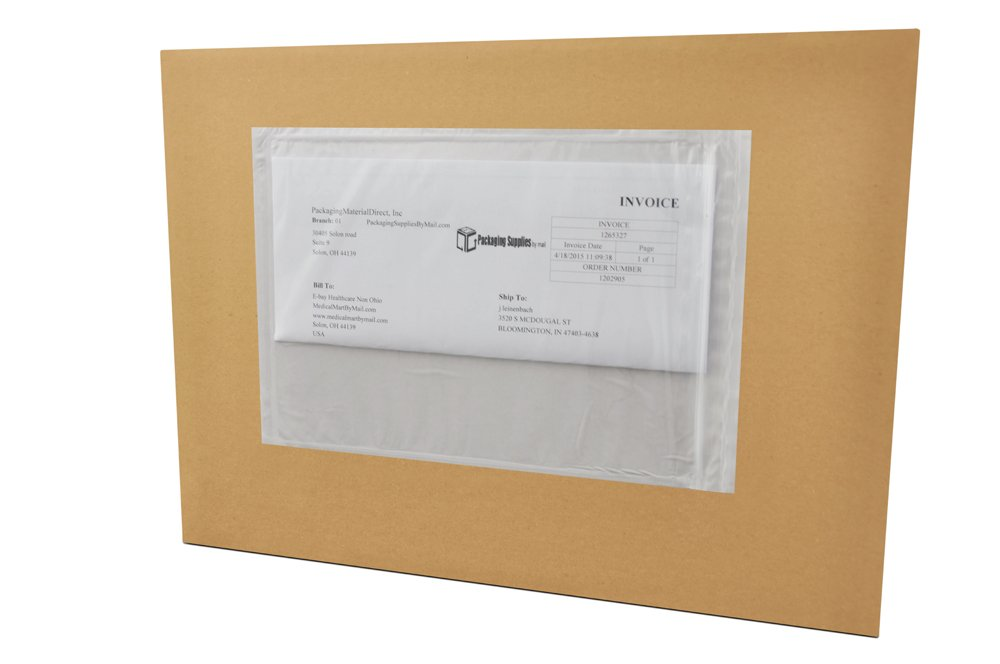 6'' x 9'' Packing List Back Side Loading Re-Closable Envelopes Pouches (1000 Pcs) by PackagingSuppliesByMail