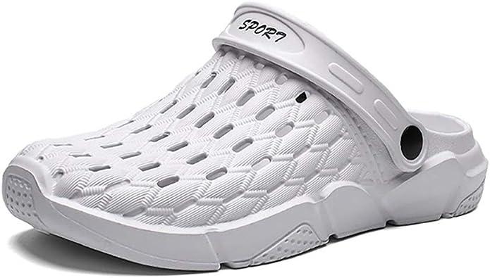 Zuecos para interiores y exteriores de los hombres de parejas sandalias de playa zapatos de jardín zapatos agujero zapatos: Amazon.es: Zapatos y complementos