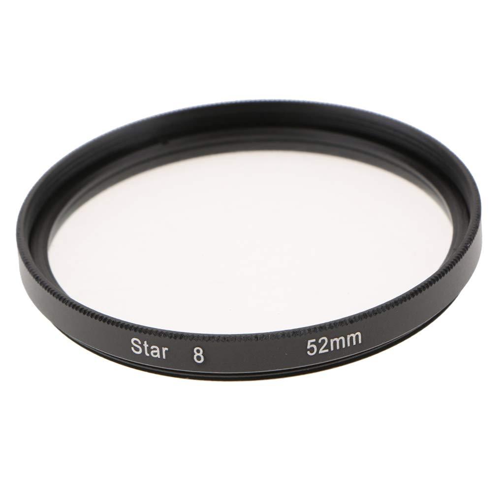 Baosity Optics 52mm 8ポイント スペシャル スターエフェクトカメラキャダーズレンズフィルター ブラック   B07GSV7JNT