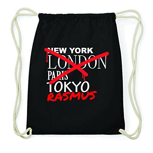 JOllify RASMUS Hipster Turnbeutel Tasche Rucksack aus Baumwolle - Farbe: schwarz Design: Grafitti 8cALu0I5lX