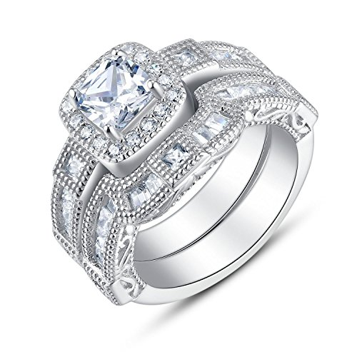 Sterling Vintage Cushion Zirconia Engagement product image