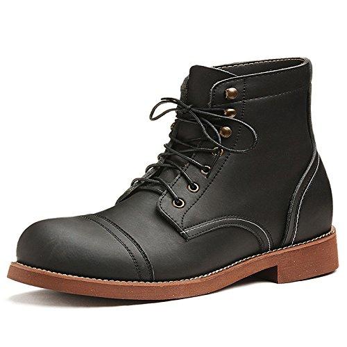 Retro Leather Shoes Joker Boots Boots Work nero Martin Mens qwFSIqU