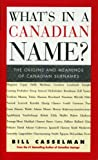 What's in a Canadian Name?, Bill Casselman, 1552781410