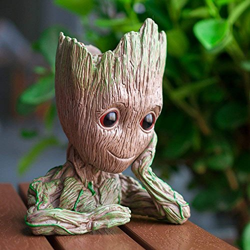 lugongjiaju Groot Action Figures Guardians of The Galaxy Flowerpot Baby Fashion Cute Model Toy Pen Pot Best Gifts 5.51 inch