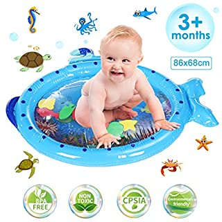 Jeteven Tummy Time Water Mat Infant Toy Submarine Baby, Newborn, Toddler, Boy and Girl Fun Play Activity Center, Growth Early Development Fun Play Toys for 3 6 9 Months Toddlers Infants
