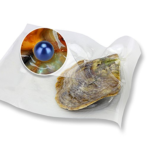Ny Akoya Round Cultured Pearl in Oyster Vacuum Package 6-7mm 30pcs (Royal Blue) by NY Jewelry