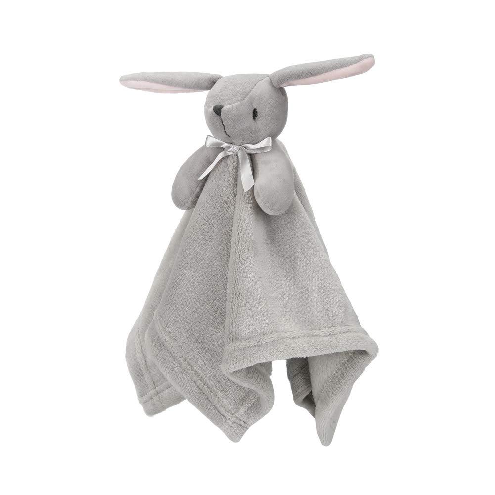 "Pro Goleem Bunny Baby Lovey Stuffed Plush Lovie//Security Blanket for Boys and Girls Minky Dot Fabric Best Easter Gift for Newborn//Infant Gray, 15/"""