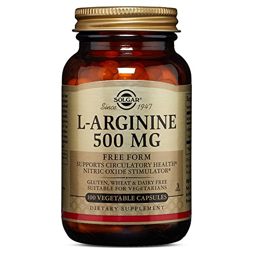 Solgar - L-Arginine 500 mg, 100 Vegetable Capsules