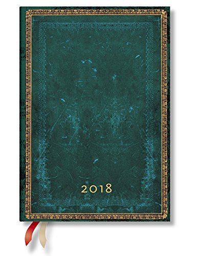 Midi - Paperblanks 2018 Daily Planner (5 x 7 Day per Page) (Viridian Midi)