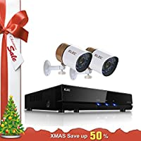 ELEC 960H Video Security System 4 Channel HDMI DVR Surveillance Kit CCTV with 2 1500TVL Outdoor Weatherproof Camera Support Mobile Remote Access, Night Vision, Motion Detection, No Hard Drive
