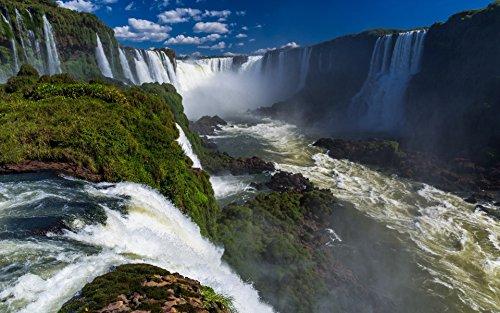 - IGUAZU FALLS GLOSSY POSTER PICTURE PHOTO argentina brazil waterfall wonders