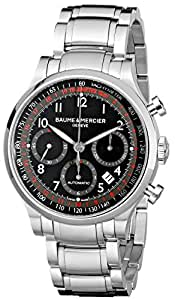 Baume & Mercier Men's MOA10062 Automatic Stainless Steel Black Dial Chronograph Watch
