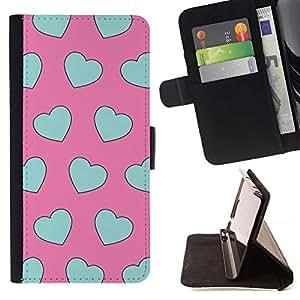 Momo Phone Case / Flip Funda de Cuero Case Cover - Motif Rose Love Heart - Samsung Galaxy S3 III I9300