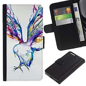 TaiTech / - Pintura Blue Jay Arte de la acuarela - Apple Iphone 6 PLUS 5.5