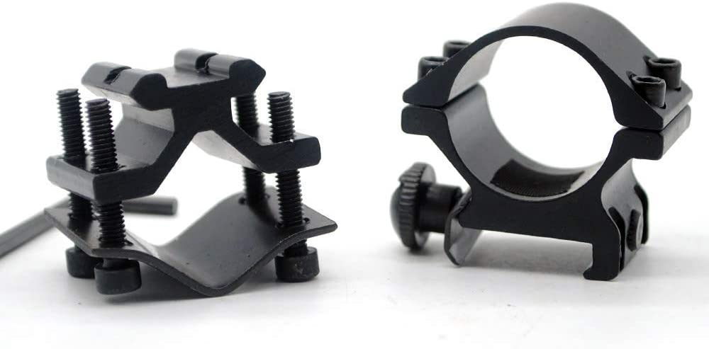 25.4mm Tube QQ06 Ulightfire Tactical Flashlight Ring Mount Scope Ring Mounts Rifle for 1