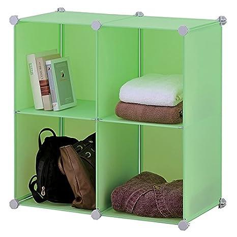 Cubi Plastica Componibili.Mondex Inx 436 00 Mensole A Cubo Componibili Con 4 Cassetti