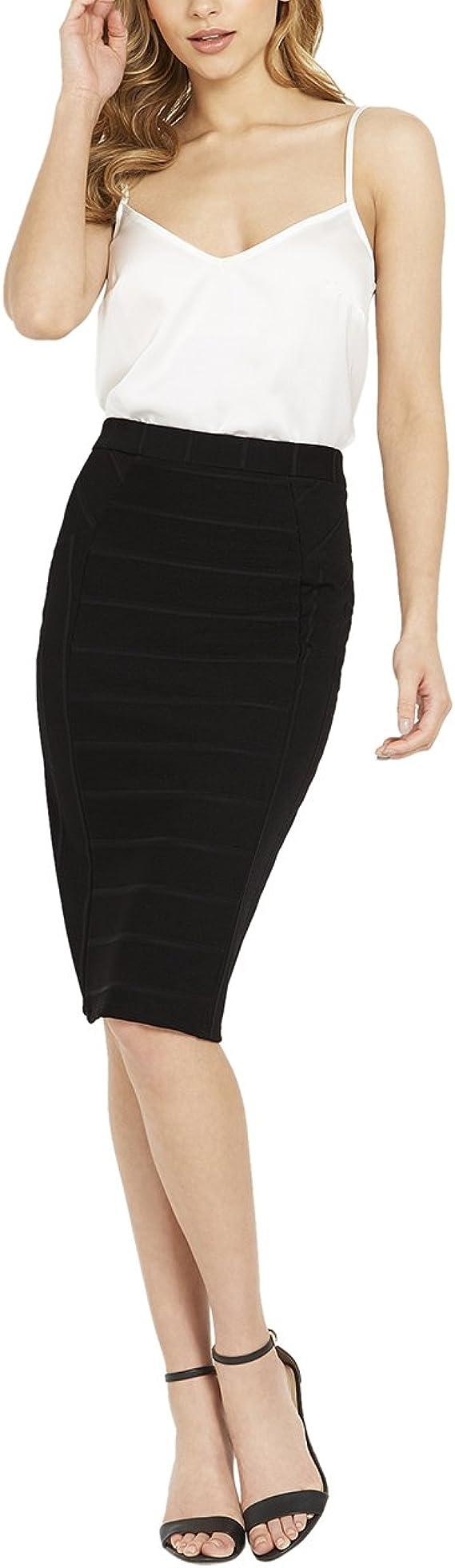 Lipsy Mujer Falda Ceñida Negro 46: Amazon.es: Ropa y accesorios