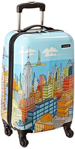 Samsonite Luggage NYC Cityscapes Spinner 20, Blue Print, One Size