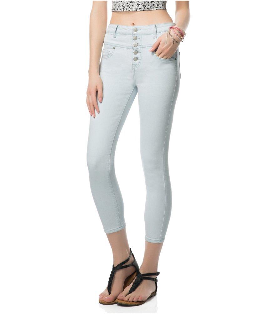 Aeropostale Womens Bree High-Rise Skinny Fit Jeans Blue 000x25 - Juniors
