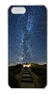 iPhone 5c Case, Personalized Protective Starry Sky Case for iPhone 5c PC Clear Phone Cover