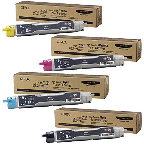 (Xerox 106R01147, 106R01144, 106R01145, 106R01146 Toner Cartridge Set - Phaser)