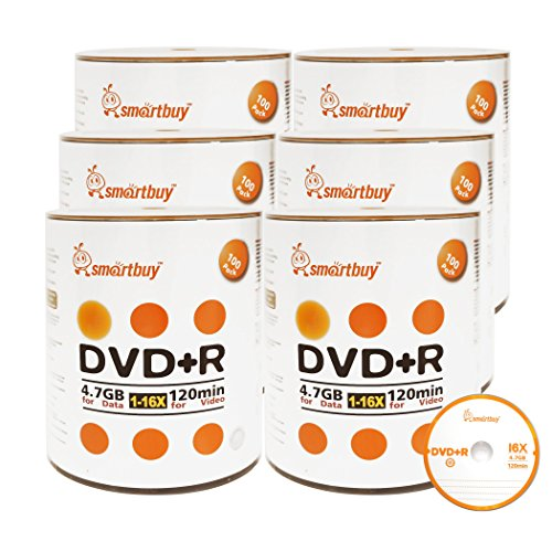 Smart Buy 600 Pack DVD+R 4.7gb 16x Logo Blank Data Video Movie Recordable Disc, 600 Disc 600pk by Smart Buy