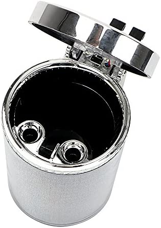 EUEMCH 車の灰皿とLEDライトタバコの煙灰シリンダー煙カップホルダーストレージカップ自動車アクセサリー