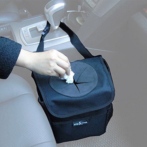 Big Ant Car Trash Bag Car Trash Bag for Little Leak Proof – Car Garbage Bag with Lid and Storage Pockets