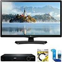 LG 24 Class 23.6 Diag HD 720p LED TV 2017 Model (24LJ4540) with Sylvania HDMI HD DVD Player, 6ft High Speed HDMI Cable Black & Universal Screen Cleaner for LED TVs Large Bottle