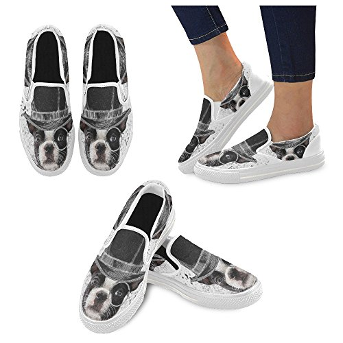 Scarpe Da Donna Slip-on In Tela Multicolore